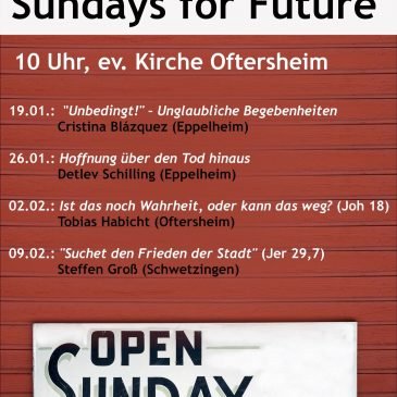 Predigtreihe 2020: Sundays for Future